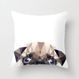 Pug Diamonds Throw Pillow