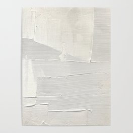 Relief [1]: an abstract, textured piece in white by Alyssa Hamilton Art Poster