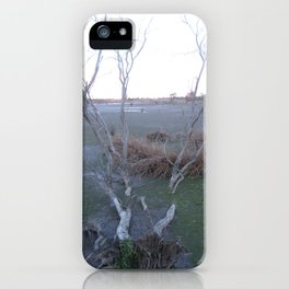 Knocked Over Bent Tree iPhone Case