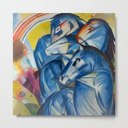 """Franz Marc """"The Tower of Blue Horses"""" Metal Print"""