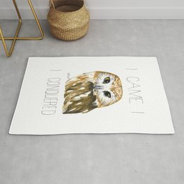 I Came, I Saw-whet, I Conquered (Northern Saw-whet Owl) Rug