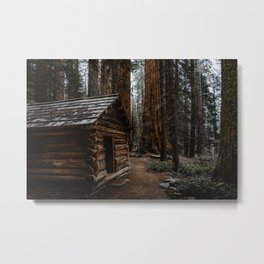Log Cabin in the Giant Forest Metal Print
