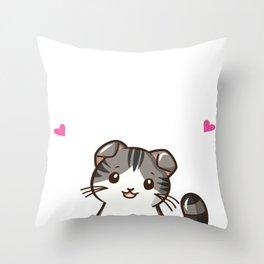 Scottish Fold Cat Throw Pillow