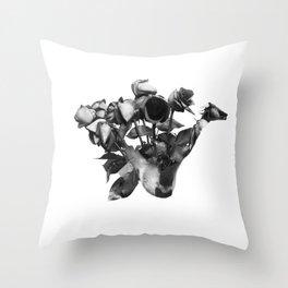 Shiba Rose Throw Pillow