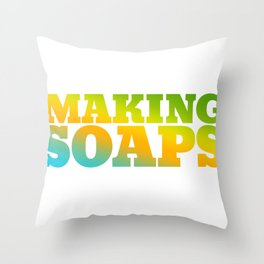 Making-soaps  Hobby Bright and Colorful Throw Pillow