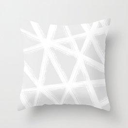 Pale Brushstrokes V2 Throw Pillow
