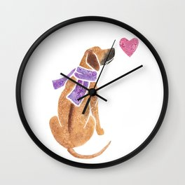 Watercolour Rhodesian Ridgeback Wall Clock