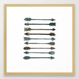 Somber Arrows Framed Art Print