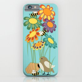 Colorful Gerber Daisy Flower Field iPhone Case