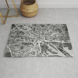 Belfast Northern Ireland City Map Rug