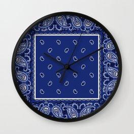 Classic Royal Blue Bandana Wall Clock