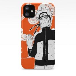 ninja anime orange iPhone Case