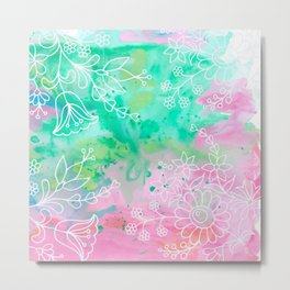 Watercolour abstract floral 3 Metal Print