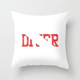 Awesome Scuba Diver Down Flag Typography Throw Pillow