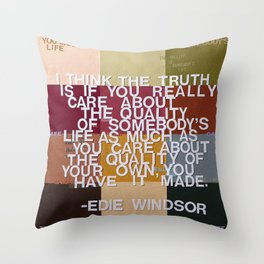 """""""The Truth Is"""" Throw Pillow"""