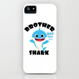 Brother Shark design Gift - Cute Baby Shark Matching Family iPhone Case