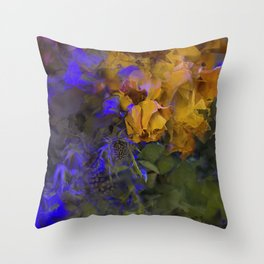 Dry flowers - semi-abstract Throw Pillow