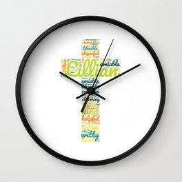 Name gift for Lillian qualities christian cross Wall Clock