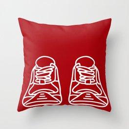 Sneaker Doodle #4 Throw Pillow
