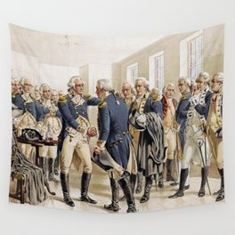 Washington's Farewell to Officers by H.A. Ogden (1893) Wall Tapestry