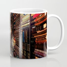 Bookshelf Books Library Bookworm Reading Pattern Coffee Mug