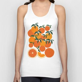 Orange Harvest - White Unisex Tank Top