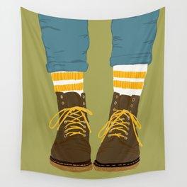 "Socks 'n' shoes ""digital screen print"" Wall Tapestry"