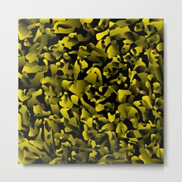 Explosive bright on color from spots and splashes of yellow paints. Metal Print