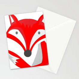 fox chibi with cute innocence face Stationery Cards
