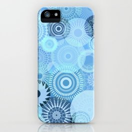 Kooky Kaleidoscope Pretty Blues iPhone Case