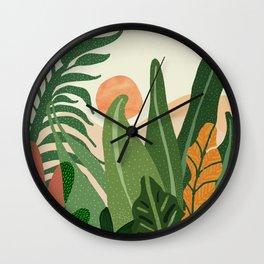 Desert Garden Sunset Wall Clock