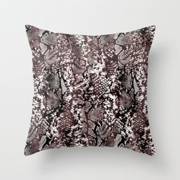 Luxury Snake Print Throw Pillow