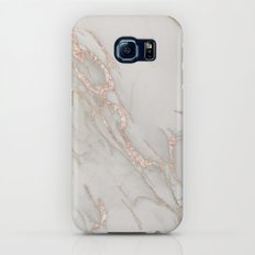 Marble Rose Gold Blush Pink Metallic by Nature Magick Galaxy S8 Slim Case