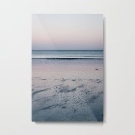 Photo of a sunset at the sea in Brittany/Bretagne, France   Colorful travel photography   Metal Print