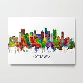 Ottawa Canada Skyline Metal Print