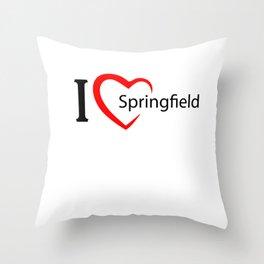 Springfield. I love my favorite city. Throw Pillow