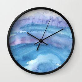 Blue Abstract Agate Wall Clock