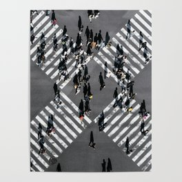Tokyo Shibuya Crossing Poster