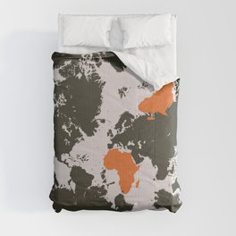 world map, Africa Comforters