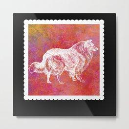 Dog Mom Commemorative Stamp Metal Print