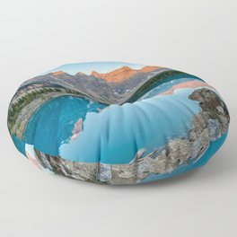Moraine Lake Sunrise Banff National Park Canadian Rockies Canada Mountains Landscape Floor Pillow