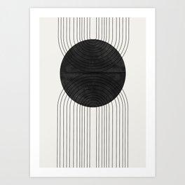 Line Art and Circle Art Print