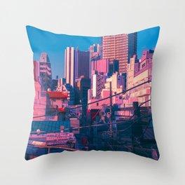 Early Morning Tokyo Throw Pillow