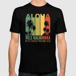 Mele Kalikimaka Aloha Hawaii Christmas T-shirt