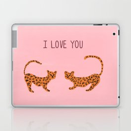 I love you cute tiger cubs  Laptop & iPad Skin