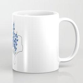 texas // watercolor bluebonnet state flower map Coffee Mug