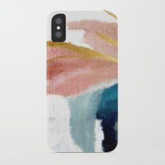 Exhale: a pretty, minimal, acrylic piece in pinks, blues, and gold iPhone X Slim Case