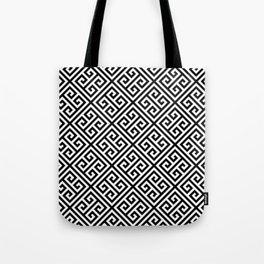 black and white pattern , Greek Key pattern -  Greek fret design Tote Bag