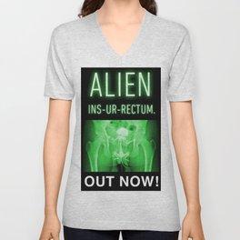 ALIEN INS-UR-RECTUM. Movie Poster. Unisex V-Neck