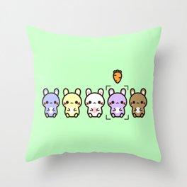 Cute bunnies Throw Pillow